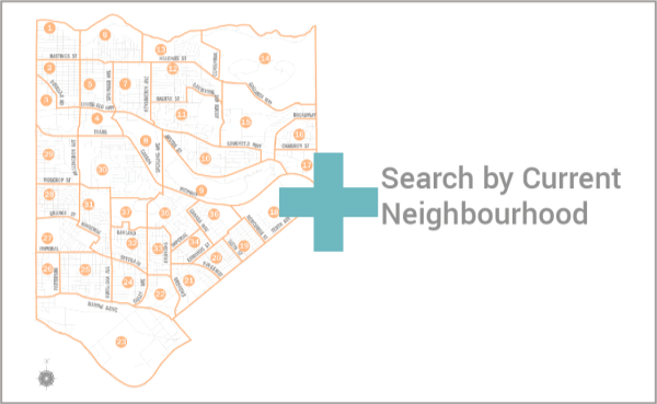 Search by current neighbourhood